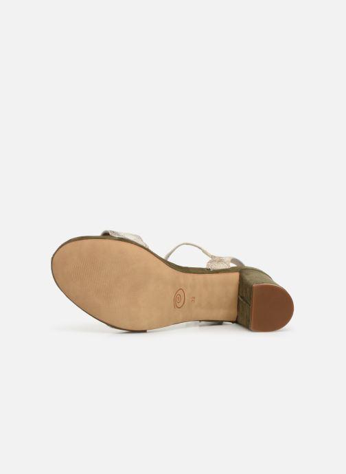 Sandales et nu-pieds Khrio 11033 Vert vue haut