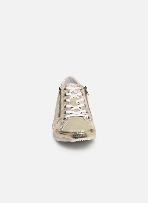Baskets Khrio 11036 Or et bronze vue portées chaussures