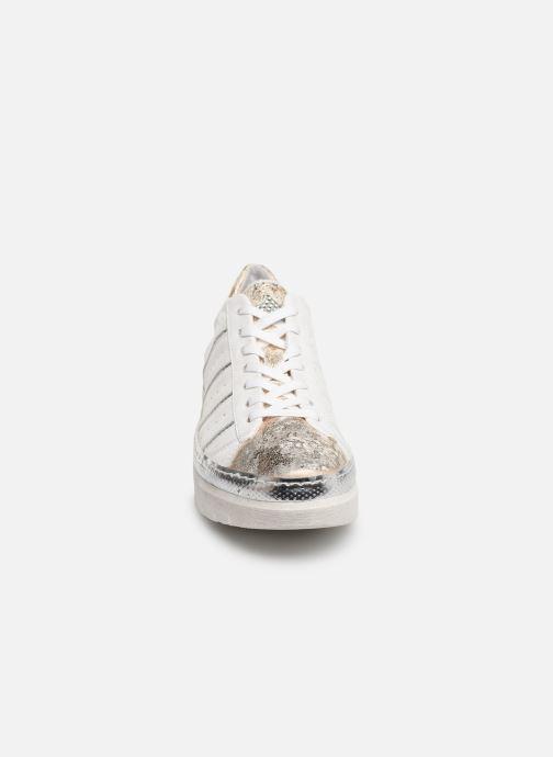 Baskets Khrio 11042 Or et bronze vue portées chaussures