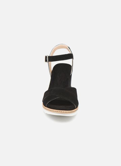 Sandales et nu-pieds Khrio 11046 Noir vue portées chaussures