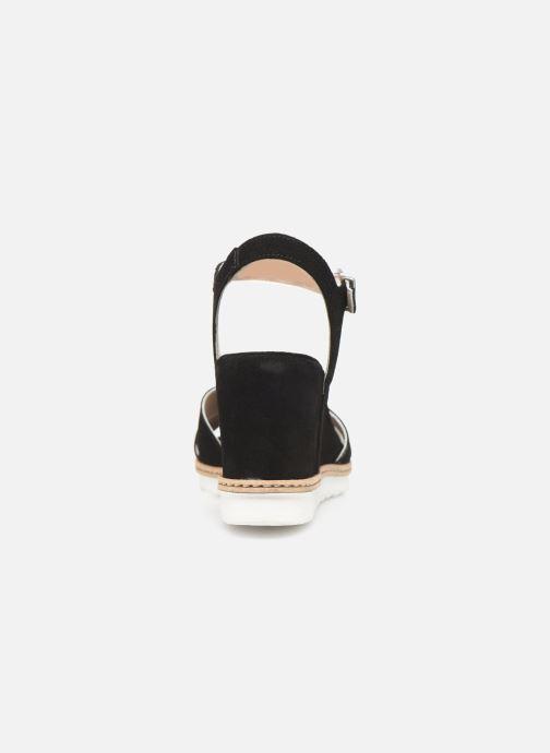 Sandales et nu-pieds Khrio 11046 Noir vue droite