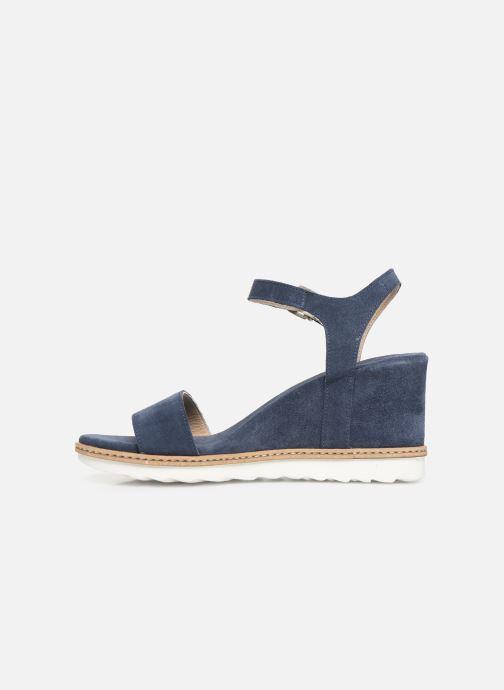 Sandales et nu-pieds Khrio 11048 Bleu vue face