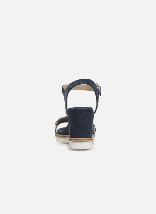 Sandales et nu-pieds Khrio 11048 Bleu vue droite