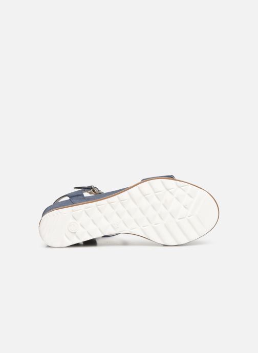 Sandales et nu-pieds Khrio 11048 Bleu vue haut
