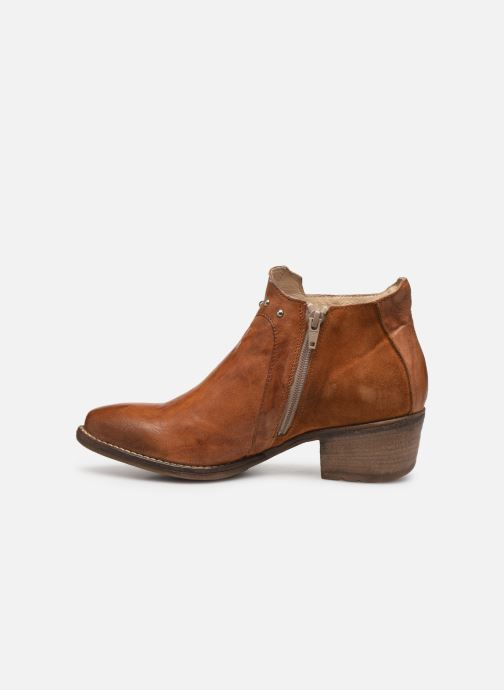 Ankle boots Khrio 11059 Brown front view