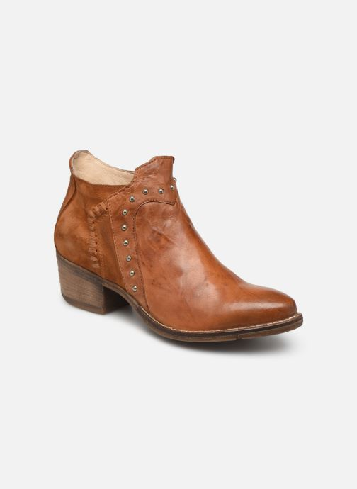 Ankle boots Khrio 11059 Brown detailed view/ Pair view