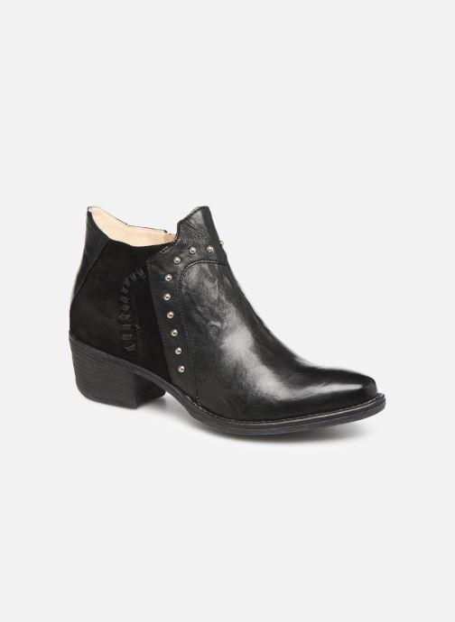 Ankelstøvler Khrio 11059 Sort detaljeret billede af skoene