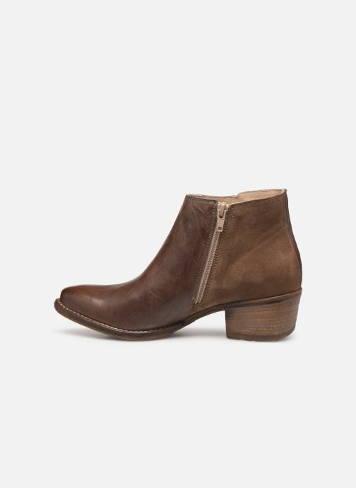 Ankle boots Khrio 11061 Brown front view