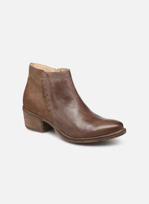 Ankle boots Khrio 11061 Brown detailed view/ Pair view