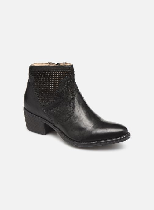 Ankle boots Khrio 11062 Black detailed view/ Pair view