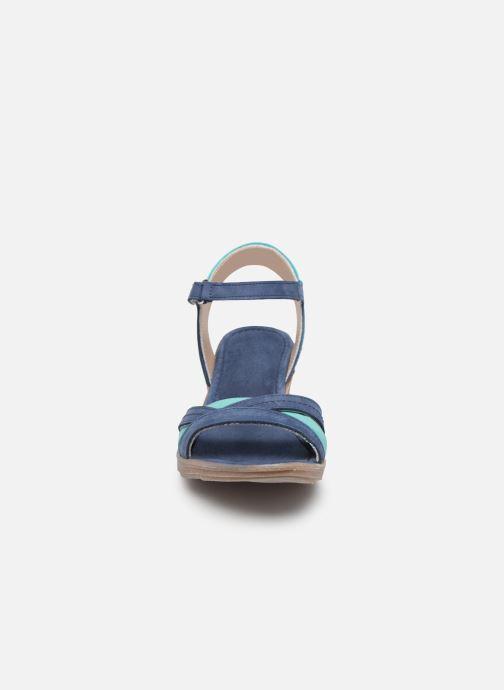 Sandali e scarpe aperte Khrio 11066 Azzurro modello indossato