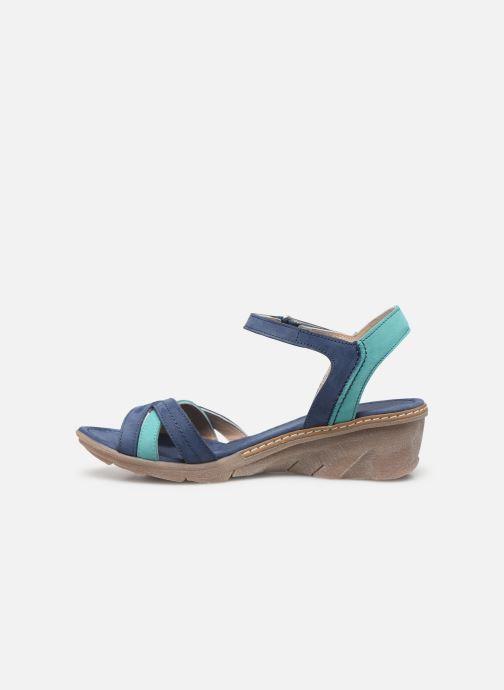 Sandales et nu-pieds Khrio 11066 Bleu vue face