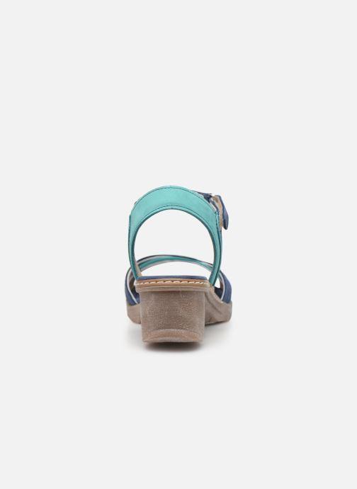 Sandales et nu-pieds Khrio 11066 Bleu vue droite