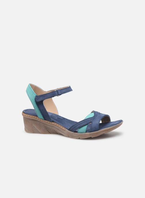 Sandales et nu-pieds Khrio 11066 Bleu vue derrière