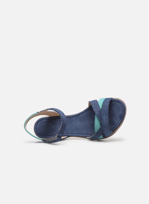 Sandales et nu-pieds Khrio 11066 Bleu vue gauche