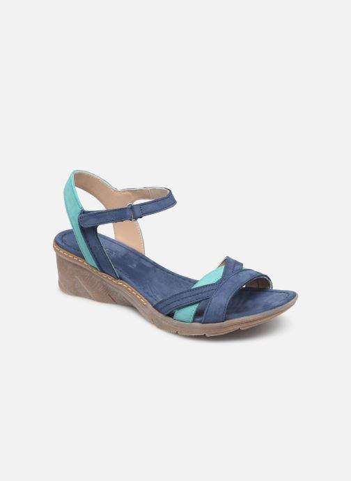 Sandales et nu-pieds Khrio 11066 Bleu vue détail/paire