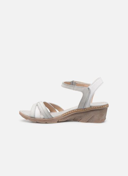 Sandales et nu-pieds Khrio 11066 Blanc vue face