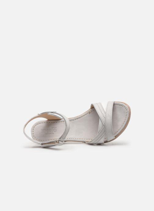 Sandales et nu-pieds Khrio 11066 Blanc vue gauche