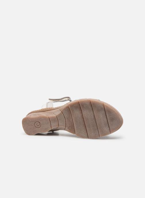 Sandales et nu-pieds Khrio 11066 Blanc vue haut