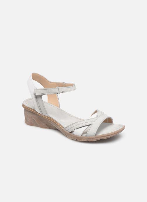 Sandales et nu-pieds Khrio 11066 Blanc vue détail/paire