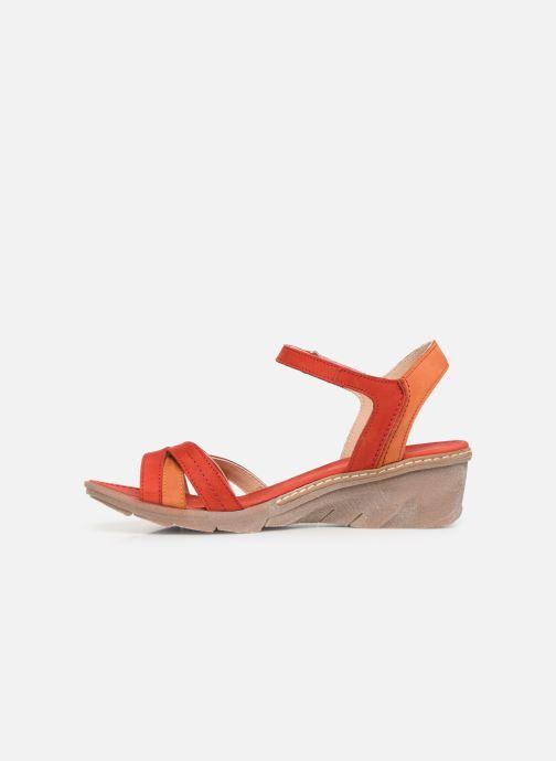 Sandales et nu-pieds Khrio 11066 Rouge vue face
