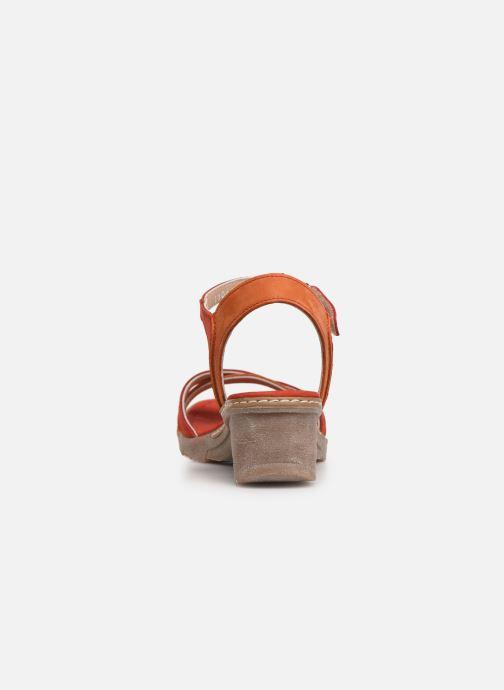 Sandales et nu-pieds Khrio 11066 Rouge vue droite