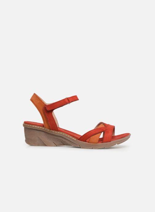 Sandales et nu-pieds Khrio 11066 Rouge vue derrière