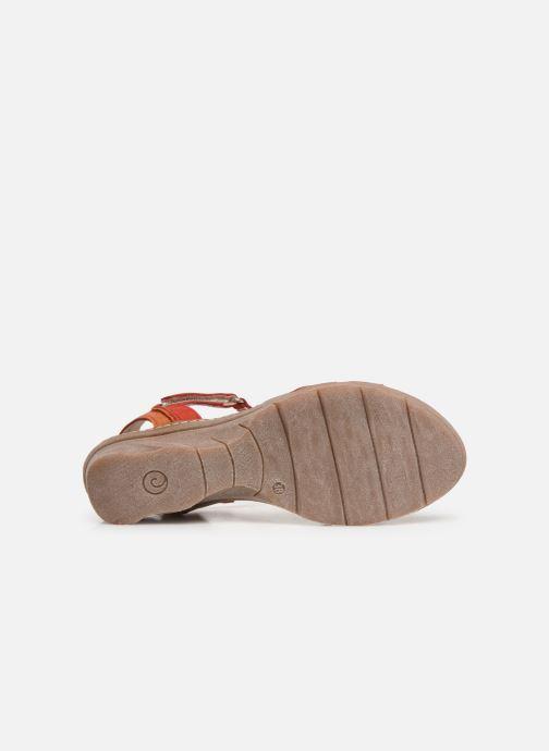 Sandales et nu-pieds Khrio 11066 Rouge vue haut