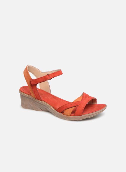 Sandales et nu-pieds Khrio 11066 Rouge vue détail/paire