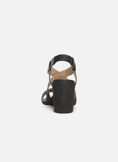 Sandales et nu-pieds Khrio 11070 Noir vue droite