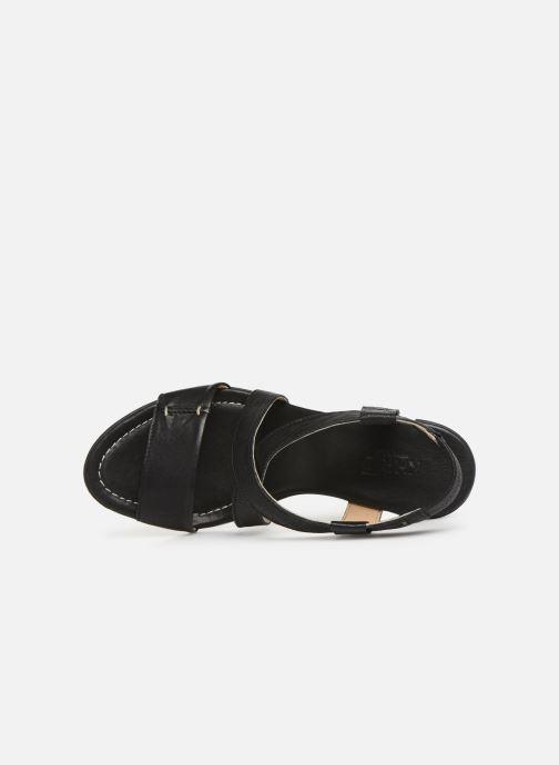 Sandales et nu-pieds Khrio 11070 Noir vue gauche