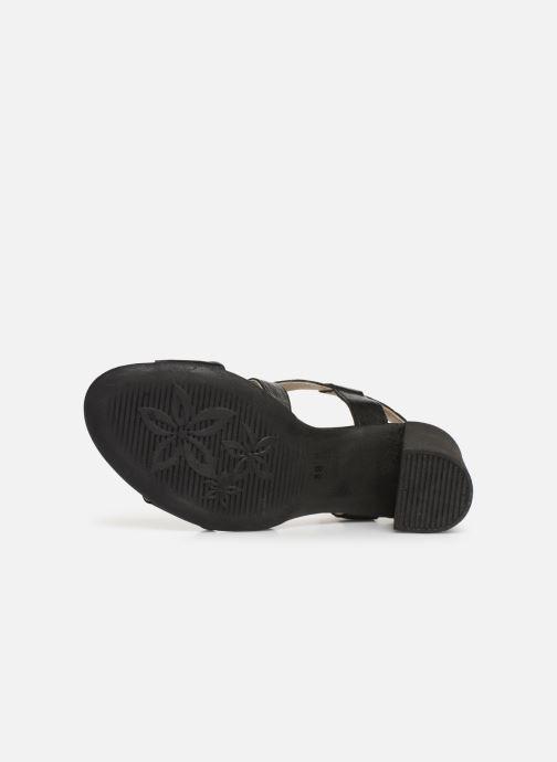 Sandales et nu-pieds Khrio 11070 Noir vue haut