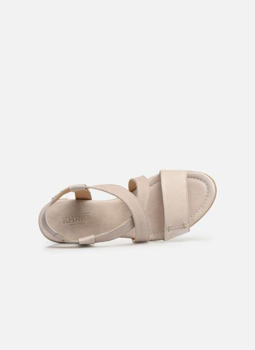 Sandales et nu-pieds Khrio 11070 Beige vue gauche