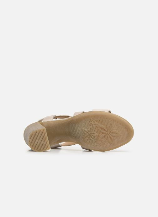 Sandales et nu-pieds Khrio 11070 Beige vue haut