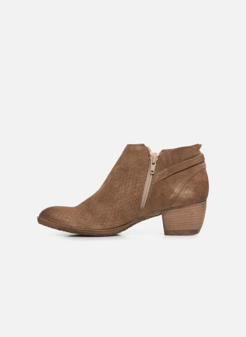 Ankle boots Khrio 11078 Brown front view