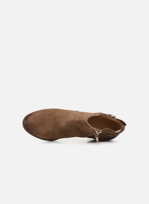 Ankle boots Khrio 11078 Brown view from the left