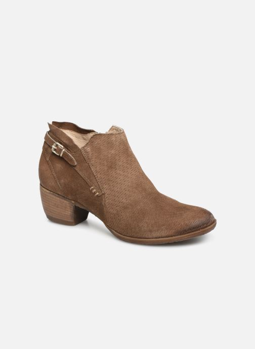 Ankle boots Khrio 11078 Brown detailed view/ Pair view