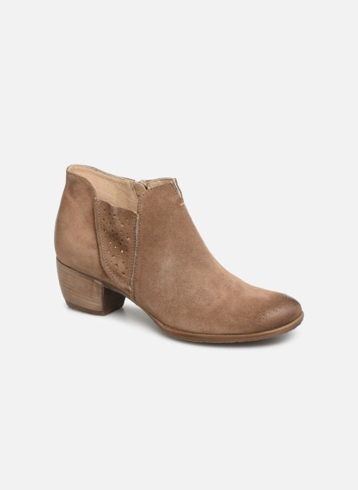 Ankle boots Khrio 11079 Brown detailed view/ Pair view