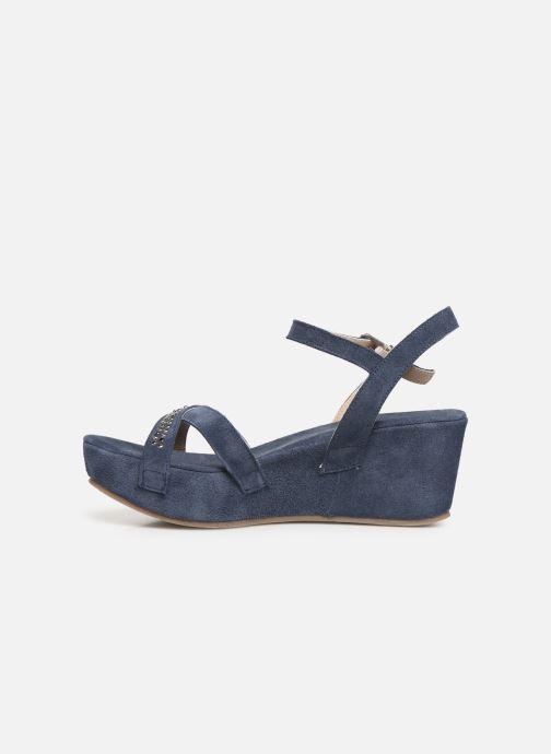 Sandales et nu-pieds Khrio 11087 Bleu vue face