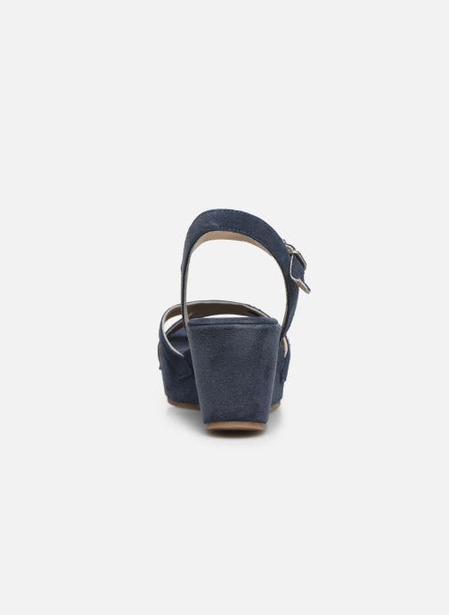 Sandales et nu-pieds Khrio 11087 Bleu vue droite