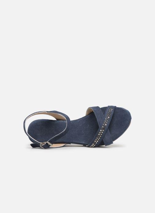 Sandales et nu-pieds Khrio 11087 Bleu vue gauche