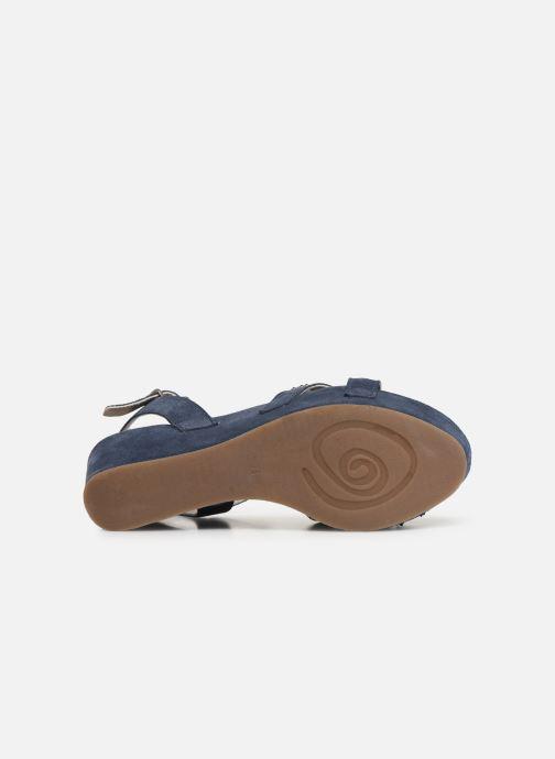 Sandales et nu-pieds Khrio 11087 Bleu vue haut