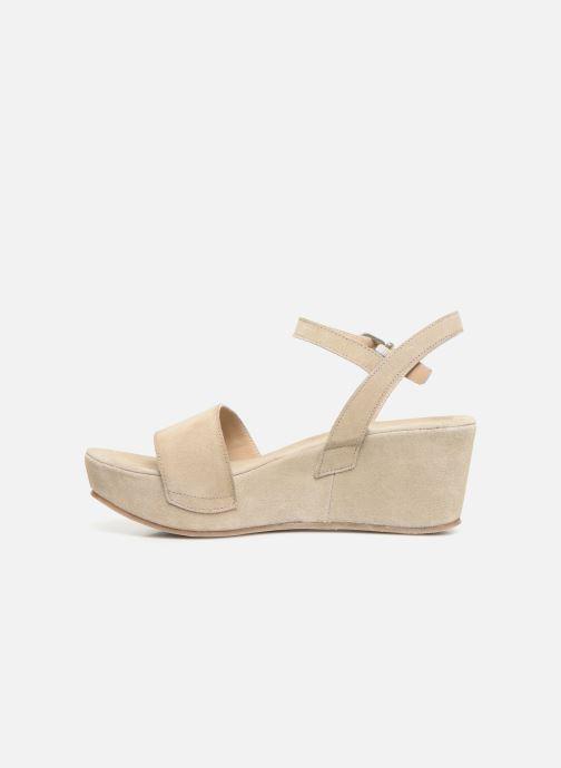 Sandales et nu-pieds Khrio 11088 Beige vue face