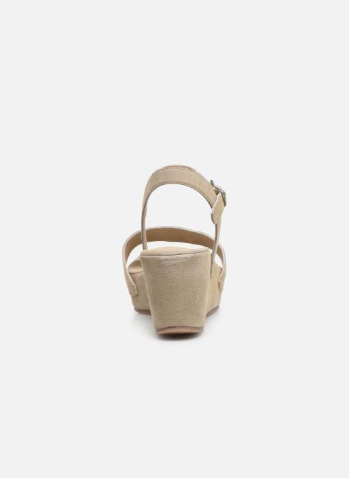 Sandales et nu-pieds Khrio 11088 Beige vue droite
