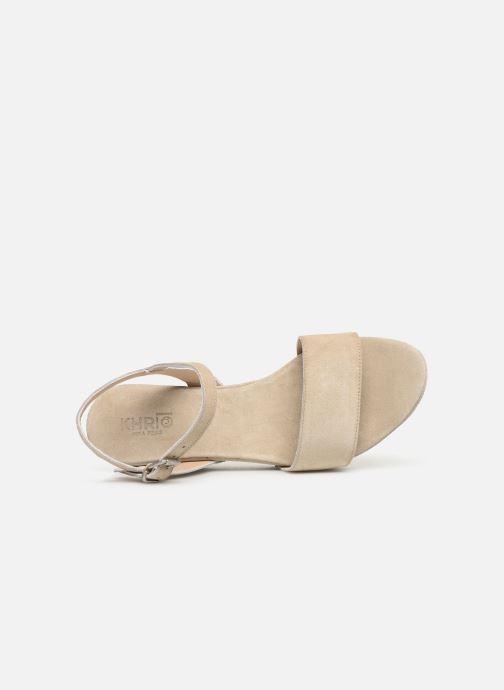 Sandales et nu-pieds Khrio 11088 Beige vue gauche