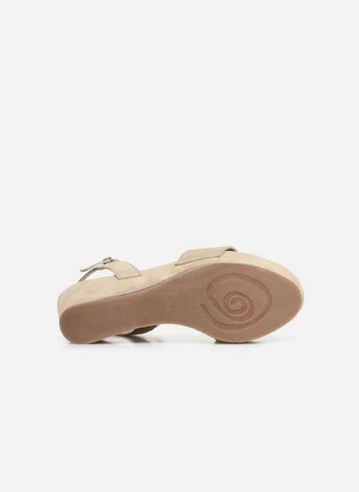 Sandales et nu-pieds Khrio 11088 Beige vue haut