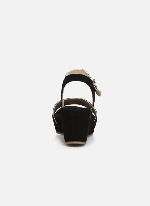 Sandales et nu-pieds Khrio 11088 Noir vue droite