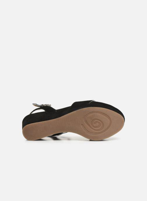 Sandales et nu-pieds Khrio 11088 Noir vue haut