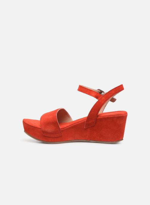 Sandales et nu-pieds Khrio 11088 Orange vue face