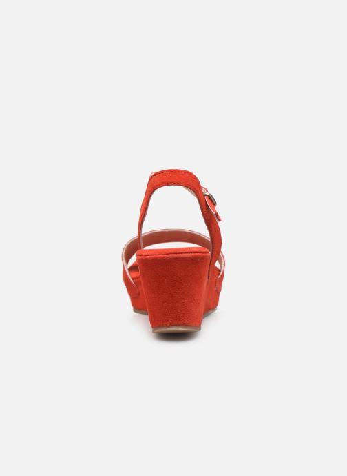 Sandales et nu-pieds Khrio 11088 Orange vue droite